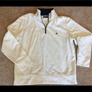 NAUTICA, half-zip pullover sweatshirt, L